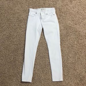 White free people jeans that are a size 25